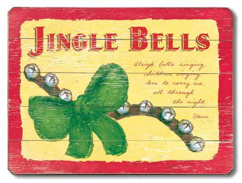 Jingle Bells, Holiday Wood Sign