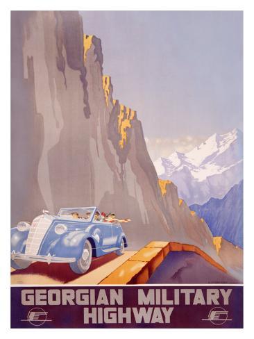 Georgian Military Highway Giclee Print