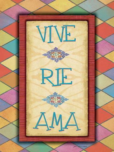 Vive Rie Ama Art Print