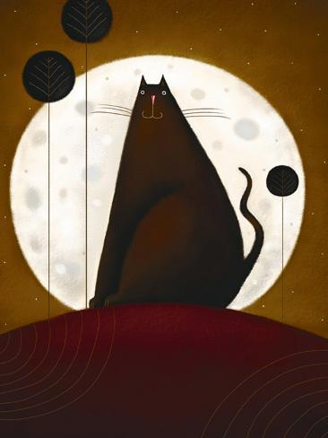 Cat and the Moon I Lámina