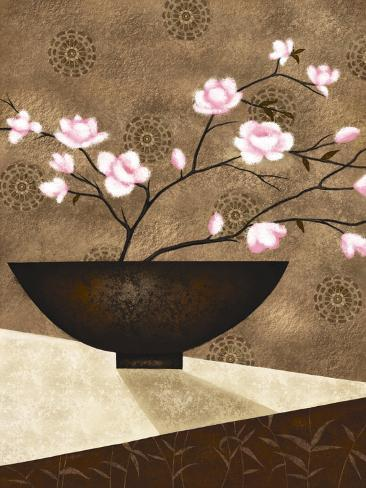 Cherry Blossoms in Bowl Lámina