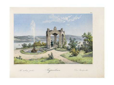Oscarshal Smoking Pavilion, 1852 Stretched Canvas Print