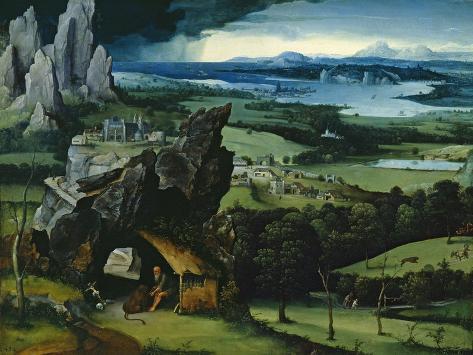 Landscape with Saint Jerome, 1516-1517 Giclee Print