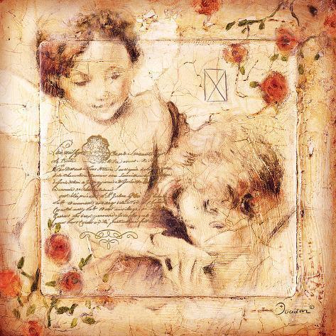 Les Anges-De Toute M. A. Reproducción de lámina sobre lienzo