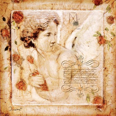 Les Anges-Le Reve Celeste Reproducción de lámina sobre lienzo