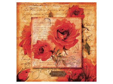 Roman Rose Gallery-Sylvie Art Print