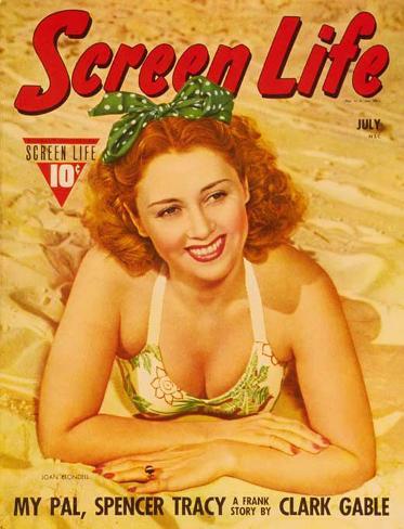 Joan Blondell - Screen Life Magazine Cover 1930's Framed Art Print
