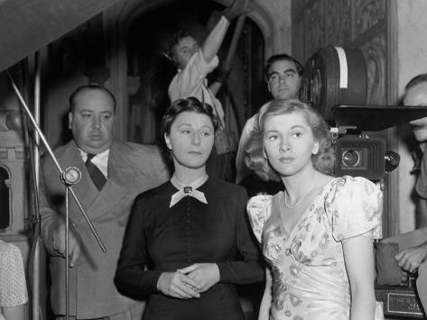 Joan Fontaine, Judith Anderson, Alfred Hitchcock, Rebecca, 1940 Photographic Print