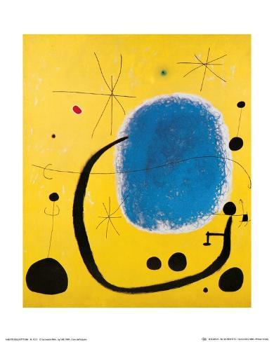 L\'Oro dell\' Azzurro Láminas por Joan Miró en AllPosters.es