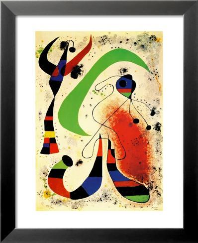Night Lamina Framed Art Print