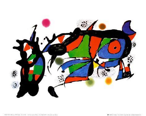 Obra de Joan Miro Art Print