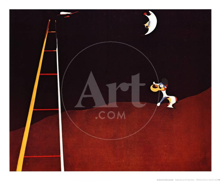 Perro ladrando a la luna Láminas por Joan Miró en AllPosters.es