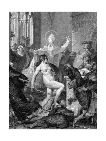 Joan of Arc Resists Rape Lámina giclée