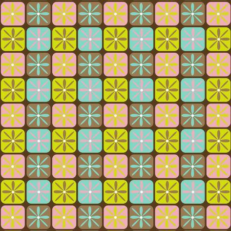 Geometric Floral Box Giclee Print