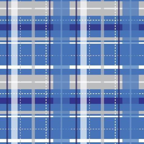 Holiday Blue Plaid Giclee Print