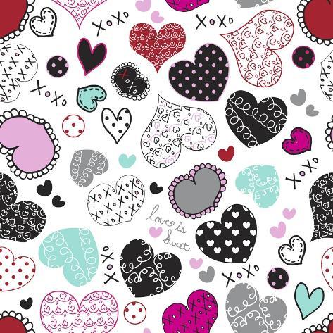 Love Hearts Giclee Print