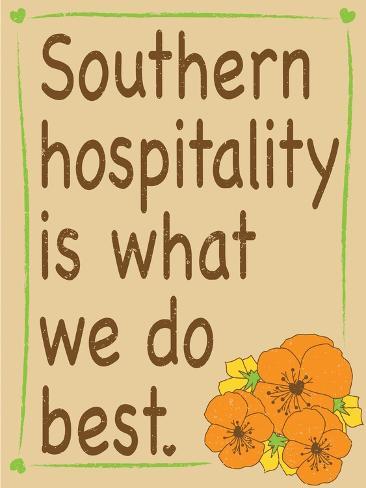 Southern Hospitality Giclee Print