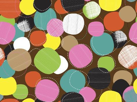 Textured Circles Giclee Print