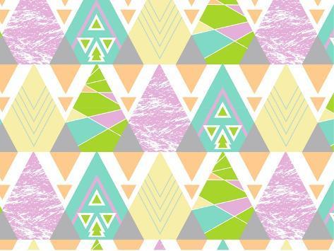 Tribal Triangles Giclee Print