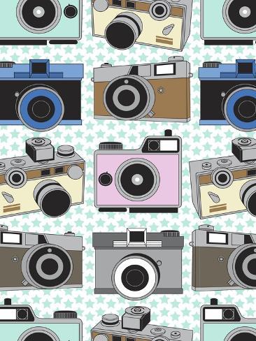 Vintage Cameras Giclee Print