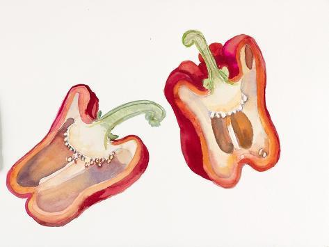 Halves of Red Pepper Giclée-vedos