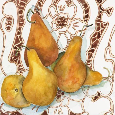 Päärynät Giclée-vedos