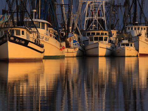 Shrimp Boats, Georgia, USA Photographic Print