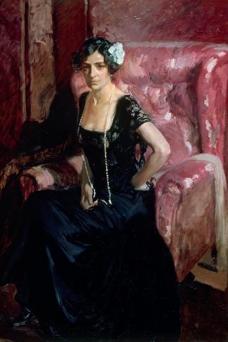Clotilde in an Evening Dress, 1910 Stampa giclée