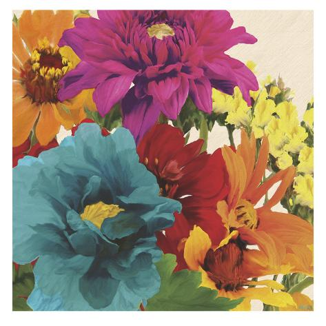 Pop Art Flowers II Art Print