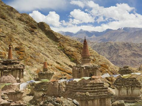 Chortens, Hemis Gompa (Monastery), Hemis, Ladakh, Indian Himalayas, India, Asia Photographic Print