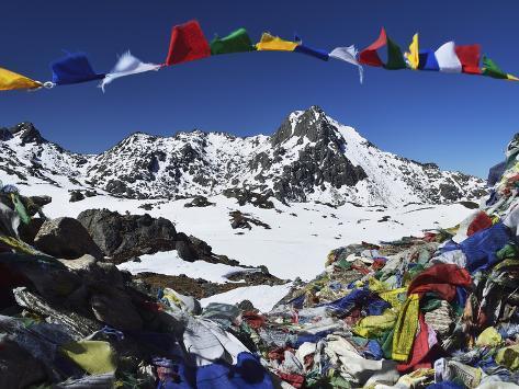 Lauribina Pass, Langtang National Park, Bagmati, Central Region (Madhyamanchal), Nepal, Himalayas Photographic Print