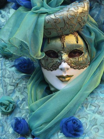 Masked Figure in Costume at the 2012 Carnival, Venice, Veneto, Italy, Europe Photographic Print