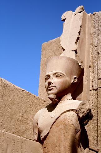 Statue of Amun Ra at Karnak Temple, Luxor Photographic Print