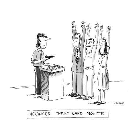 Advanced Three Card Monte - Cartoon Premium Giclee Print