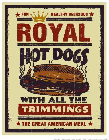 Royal Hot Dogs Art Print