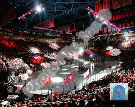 Joe Louis Arena - '09 St. Cup / Gm. 1 Framed Photographic Print