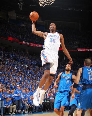 Dallas Mavericks v Oklahoma City Thunder - Game Four, Oklahoma City, OK - MAY 23: Kevin Durant and  Photo