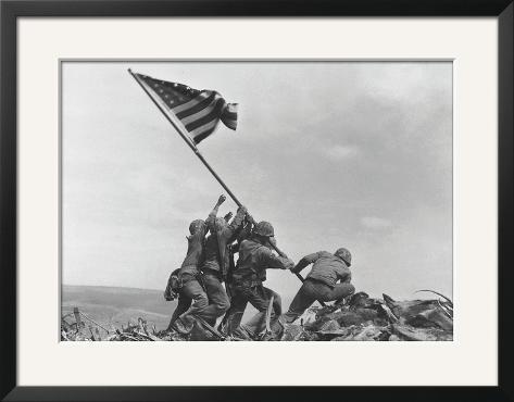 Flag Raising on Iwo Jima, c.1945 Framed Art Print