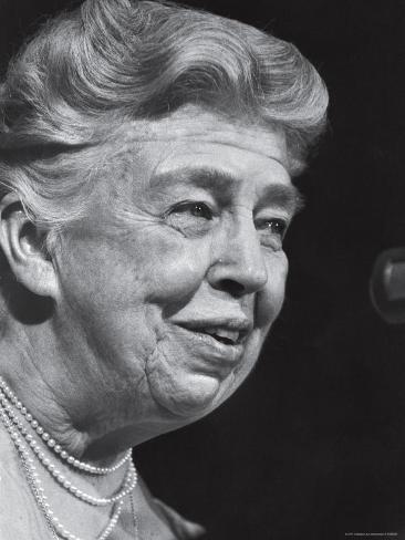 Former First Lady Eleanor Roosevelt Speak at Democratic Fundraising Dinner Honoring 75th Birthday Premium Photographic Print