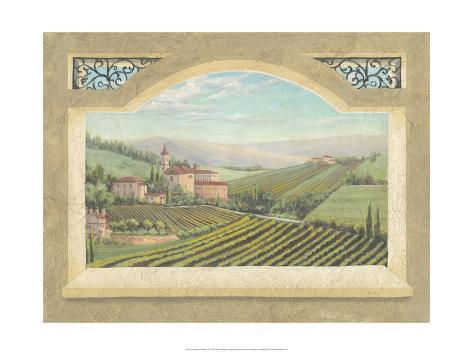 Vineyard Window II Art Print