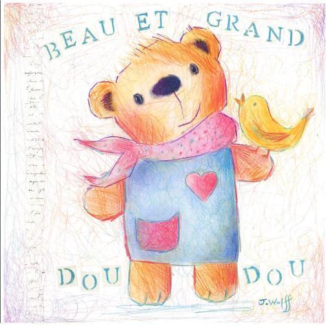 Grand Doudou Art Print