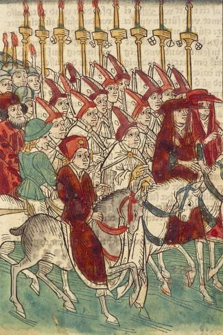 Pope Martin V Rides Out from Constance Lámina giclée