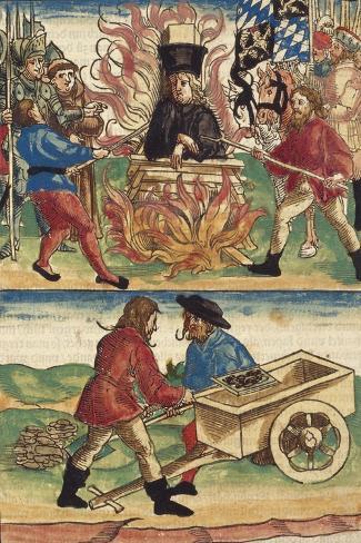 The Burning of Jan Hus Lámina giclée