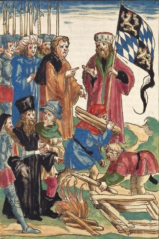 The Burning of Jerome of Prague Lámina giclée