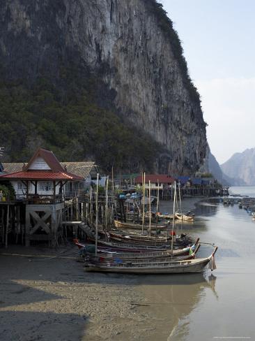 Ko Panyi, Muslim Fishing Village, Phang Nga, Thailand, Southeast Asia Photographic Print