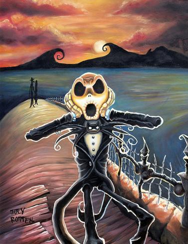 Jack Screams Reproducción de lámina sobre lienzo