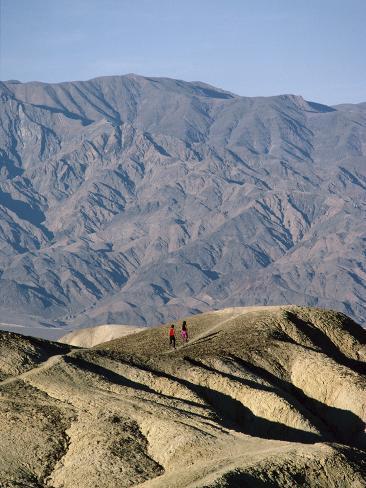 Jogging in Barren Terrain Photographic Print