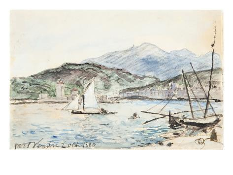 Port Vendres (W/C on Paper) Giclee Print