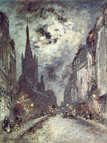 Rue Saint-Severin, 1877 Giclee Print