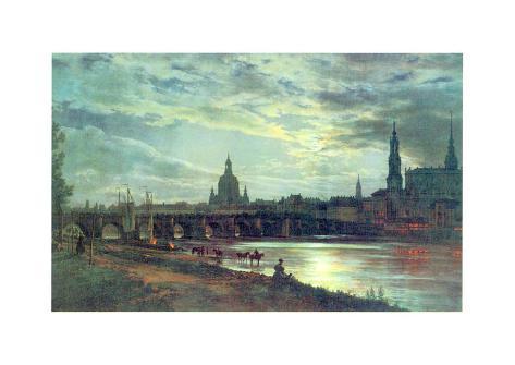 Blick Auf Dresden Art Print
